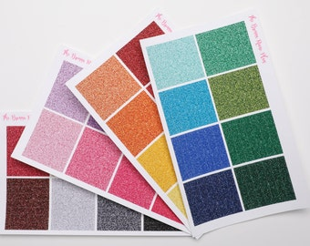 Glitter Headers | Planner Stickers