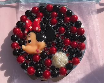Minnie Mouse Rhinestones Compact Mirror