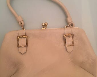 Beige Letisse Leather Purse