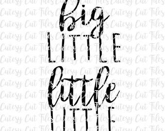 Big little Little little sibling shirts - Sibling shirts svg - Baby announcement svg - Big brother shirt - Big sister shirt