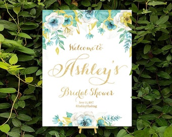 Bridal Shower sign, bridal shower banner, Bridal Shower Welcome Sign, Bridal Shower decorations, bridal shower welcome - US_BSc3