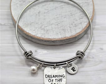 Dreaming of the Sea Bracelet - Personalized - Beach Themed Ocean Lover Gift - Tropical Sea Jewelry for Women & Girls - Beach Inspired