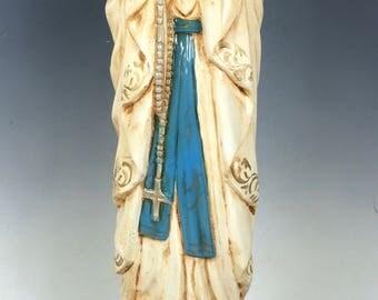 Carved Wood Religious Saint - Lourdes