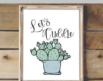 Let's Cuddle Printable & Graphic