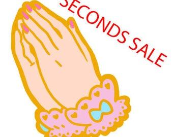 Lolita Prayer Hands Enamel Pin SECONDS SALE