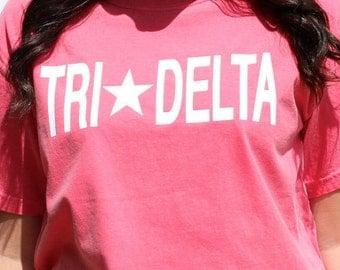 Tri Delta Shirt, Tri Delt Shirt, Sorority Shirts, Greek Shirts, Big Little Sorority, Big Little Reveal, Greek Gifts, Women's Gifts