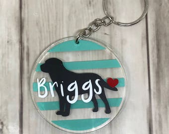 Personalized Dog Keychain - Dog Keychain - Animal Keychain - Custom Keychain - Fun Keychain - Gift for Sister - Gift for Mom - Gift for Her