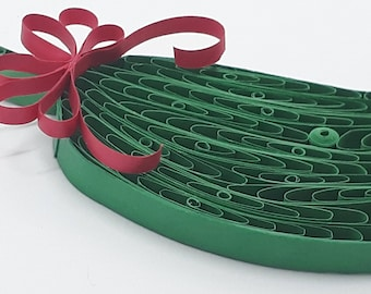 Christmas Pickle made in the Quilling Paper Art Technique - Start a new tradition with this handmade Ornament. Includes Free Gift Packge.