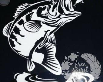Bass Decal - Jumping Bass - Fish Decal - Bass Assassin - Fisherman - Outdoor Life - Fisherman Life - Largemouth Bass Decal - Truck Decal