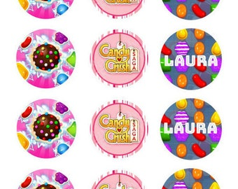 Candy Crush-Themed Chocolate Covered Cookies