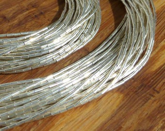 """Sterling Liquid Silver 30 strand 17.75"""" Necklace and 20 Strand 7"""" Bracelet"""