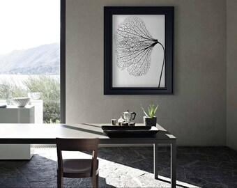 Flower Art Poster - Printable Wall Art - Flower Photography - Scandinavian Wall Art - Wall Decor Poster - Black and White Photography