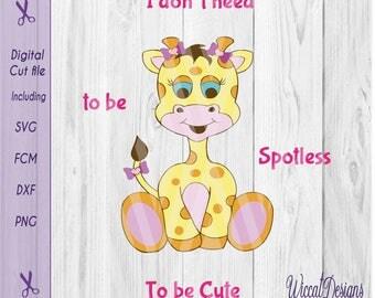 Giraffe svg, Baby girl svg, zoo svg, toddler svg files, baby svg, scanncut, svg file, svg t shirt design, dxf cut file, svg for little girls