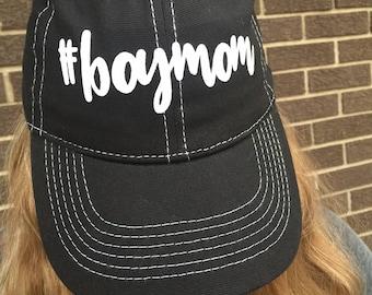 Boymom Custom BLACK UNSTRUCTURED Hat-New