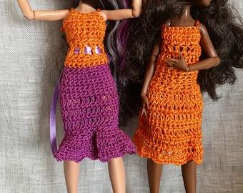 """Monster Ever after High - 2 dresses crochet """"Women's heart"""""""