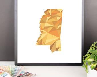 MISSISSIPPI State Pattern Map Print, Mississippi Poster, Mississippi Wall Art, Mississippi Art, Mississippi Gift, Mississippi Decor, Map
