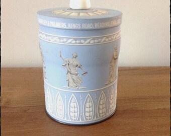 RARE FIND - Vintage  Huntley & Palmer Wedgwood Jasperware Biscuit Tin- Prop-Display-Advertising-Packaging