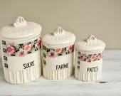 Vintage French Set of 3 P...
