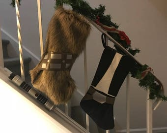 Star Wars Stockings - Chewbacca and Han Solo