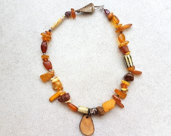 Amber necklace - Amber Beaded Necklace - Amber Stone - Amber Jewelry - Beaded Necklace