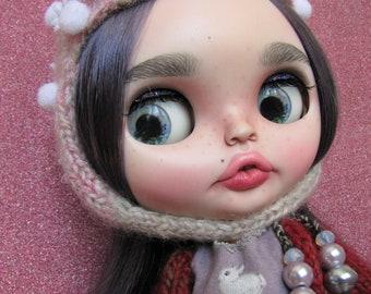 Violet bunny!!!  Blythe ooak doll