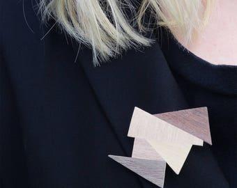 Triangle brooch
