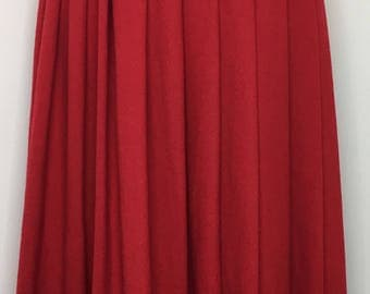 Vintage Red Pleated Wool Skirt by Pendleton Size 8