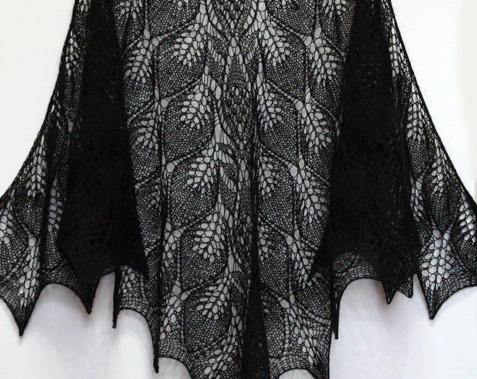 Knitted scarf shawl, knit shawl, knit scarf, black shawl, knitted scarf, shawl mohair, knitted scarf, delicate shawl, crochet shawl, wrap
