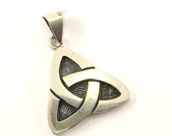 Vintage Celtic Knot Design Pendant 925 Sterling  PD 160