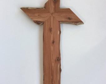 Wooden Cross using Natural Aromatic Cedar Wood