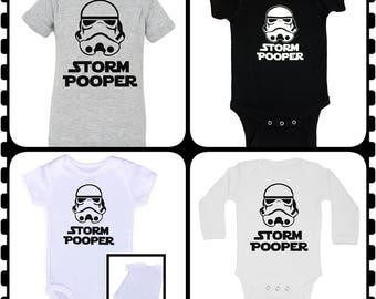 Storm Pooper, Onesie, Super Cute Baby Shower Gift, Choice of Onesie Colors