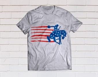 Merica svg, American flag svg, Cowboy svg, Usa flag svg, Patriotic svg, SVG Files, Cricut, Cameo, Cut file, Clipart, Svg, DXF, Png, Pdf, Eps