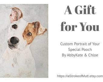 "Gift Certificate for Custom Pet Portrait (8""x10"")"