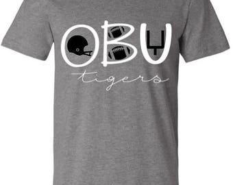 OBU Tiger Football Tee