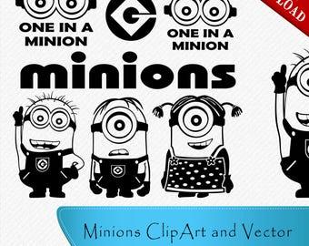 Minion svg, Minion Silhouette, Minion cricut file, Minion cutting file, Minion silhouette files, svg, dxf, eps, png