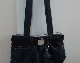 Handbag made of recycled jeans