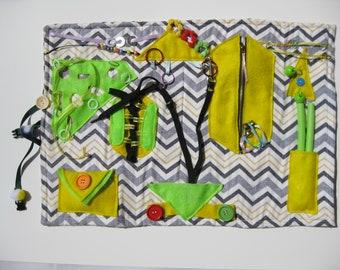 Fidget Quilt, Sensory Blanket, Tactile Lap Quilt, Alzheimers Activity Mat, Memory Mat, Stroke Patients, Autism Mat, Learning Mat, Touch