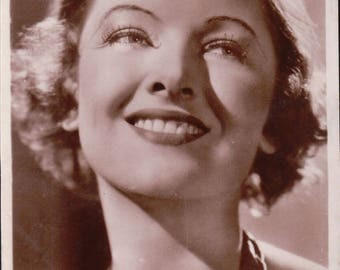 Myrna Loy Postcard. ~ Metro-Goldwyn-Mayer Pictures  ~ UnPosted ~ 1930/40 ~ Real photograph