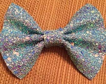 Glass Slipper Glitter Bow