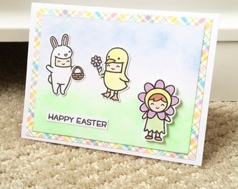 Lawn fawn easter party//easter Card//party//costumes