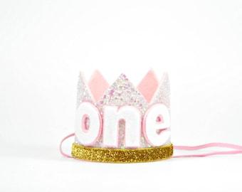 Birthday Party Hat   Birthday Crown   Birthday Girl Outfit   Baby Birthday Crown   Girl Birthday Crown    Pink Crown   Cake Smash