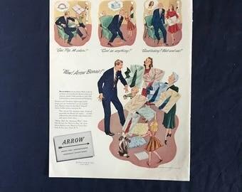 Vintage Arrow Shirt Ad