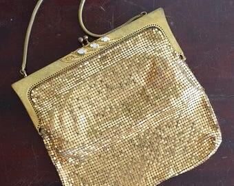 Vintage 1960s Gold Mesh Evening Bag