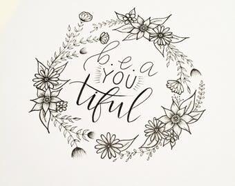 Beautiful Wreath - Original Hand-Drawn Illustration
