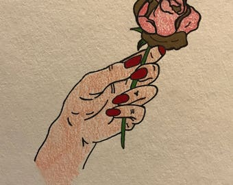 Roses Dipped in Gold Print