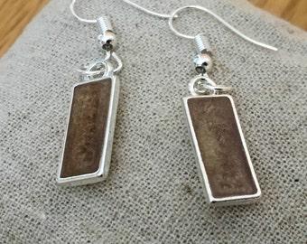 50% OFF SALE Mocha Brown Coffee Chocolate Resin Earrings Silver Plated Womens Jewellery