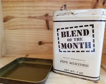 Blend of the Month pipe tobacco tin