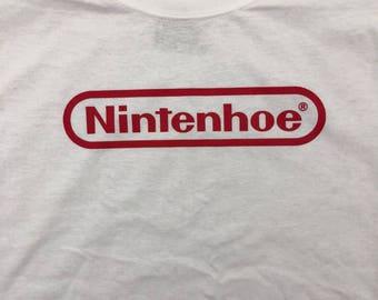 "Nintendo Inspired ""Nintenhoe"" T-shirt"