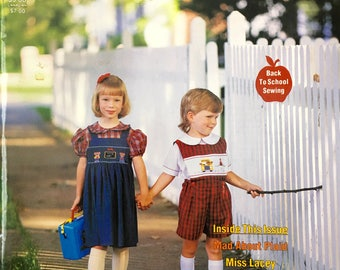 Sew Beautiful Magazine Martha Pullen Heirloom Sewing and Smocking for Children sewing patterns and instructions