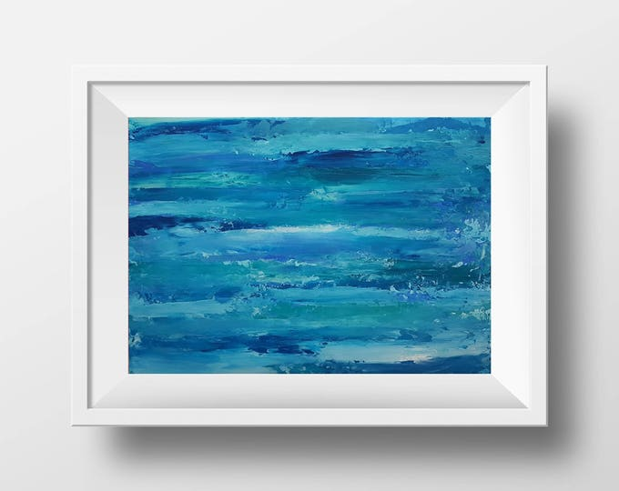 The Holiday 35x25cm Original Abstract Painting